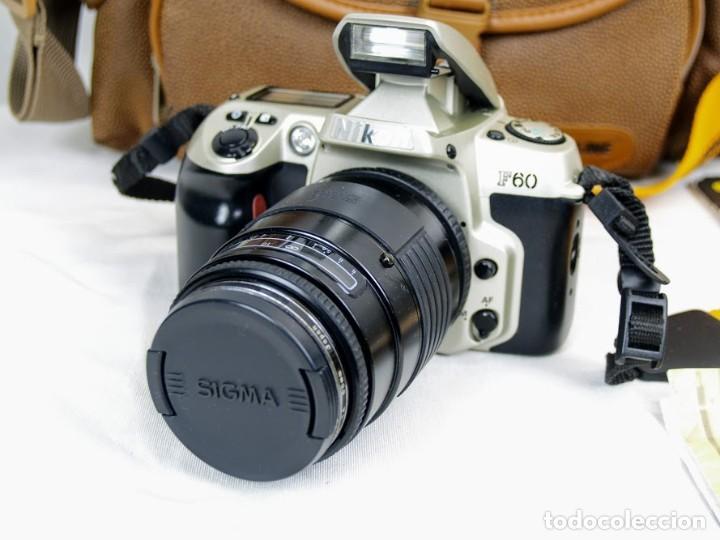 CAMARA DE FOTOS NIKON F60 + OBJETIVO SIGMA F35-135 MM (Cámaras Fotográficas - Réflex (autofoco))