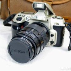 Cámara de fotos: CAMARA DE FOTOS NIKON F60 + OBJETIVO SIGMA F35-135 MM. Lote 203628652