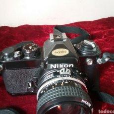 Câmaras de fotos: NIKON FE CON OBJETIVO GAMA ALTA NIKKOR 28MM. 1:2,8 EN PERFECTO ESTADO. Lote 204798666