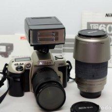 Cámara de fotos: NIKON F60+NIKON 28-80MM+NIKON 70-300MM+FLASH. Lote 208043053