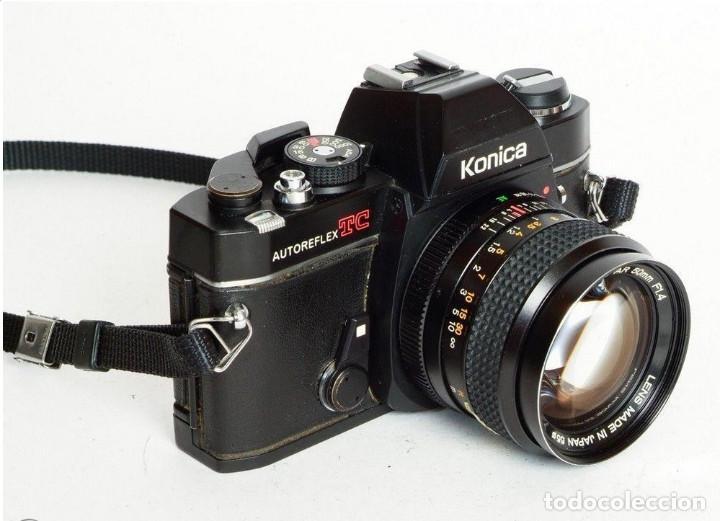 CAMARA KONICA AUTOREFLEX TC, + OBJETIVO KONICA HEXANON 1,4 50MM, ORG MADE IN JAPAN, EXC ESTADO (Cámaras Fotográficas - Réflex (autofoco))