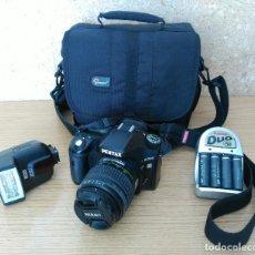 Cámara de fotos: PENTAX K200D + 18-55MM + BOLSA + ACCESORIOS. Lote 209865363