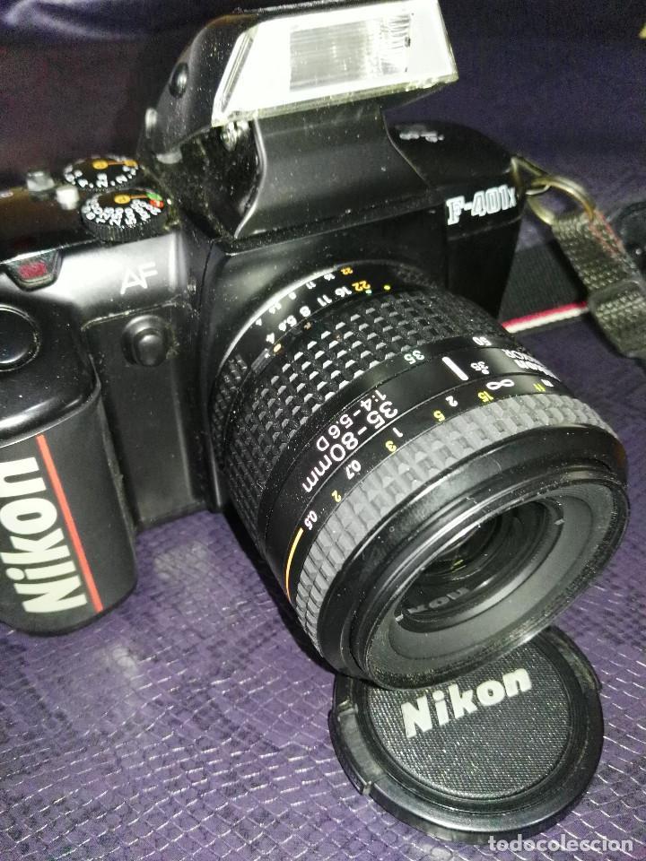 CAMARA NIKON F-401 X CON OBJETIVO 35/80 (Cámaras Fotográficas - Réflex (autofoco))