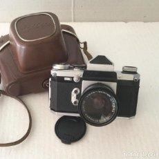 Cámara de fotos: CÁMARA FOTOGRÁFICA EDIXA RÉFLEX. AÑOS 50 CON FUNDA CUERO.. Lote 211971418