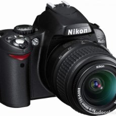 Cámara de fotos: PACK CÁMARA DIGITAL REFLEX NIKON D40 COMPLETA- COMO NUEVA-4500 DISPAROS.. Lote 214479208
