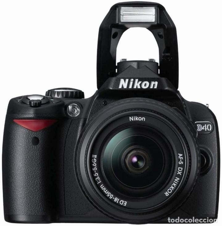 Cámara de fotos: PACK CÁMARA DIGITAL REFLEX NIKON D40 COMPLETA- COMO NUEVA-4500 DISPAROS. - Foto 3 - 214479208
