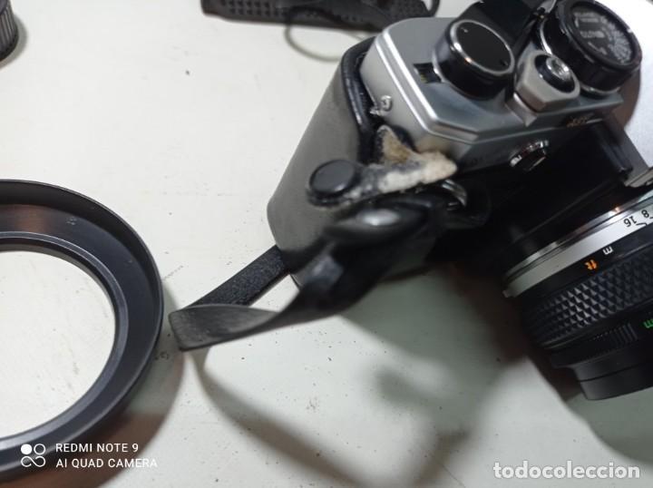 Cámara de fotos: CAMARA DE FOTOS OLYMPUS OM 10 CON 3 OBJETIVOS, 50MM, , 28MM Y 135MM, FUNDA Y BOLSA DE TRANSPORTE - Foto 3 - 214975546