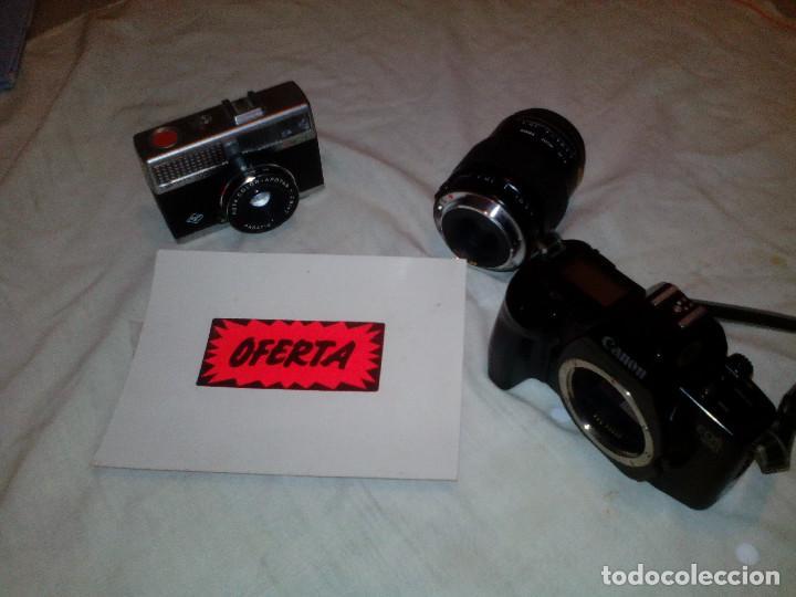 PAR DE ANTIGUAS CAMARAS FOTOGRAFIA **CANON Y AGFA** (Cámaras Fotográficas - Réflex (autofoco))