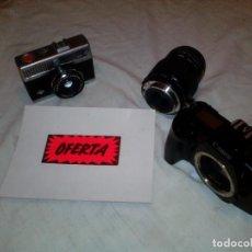 Cámara de fotos: PAR DE ANTIGUAS CAMARAS FOTOGRAFIA **CANON Y AGFA**. Lote 215997307