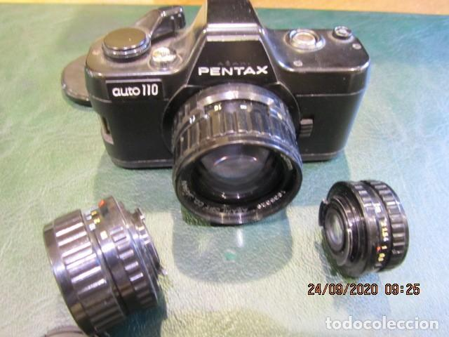 PEQUEÑA PENTAX ASAHI AUTO 110 3 0BJETIVOS (Cámaras Fotográficas - Réflex (autofoco))