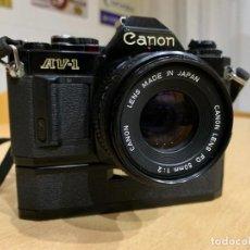 Cámara de fotos: CANON AV 1 CON MOTOR. Lote 220810776
