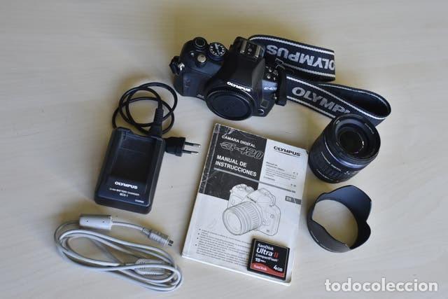 CÁMARA DIGITAL OLYMPUS E420 + OBJETIVO ZUICO 14-42 MM + ACCESORIOS (Cámaras Fotográficas - Réflex (autofoco))