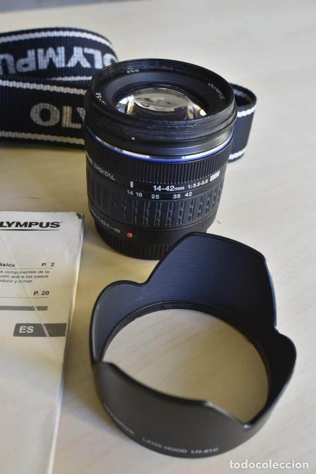 Cámara de fotos: Cámara Digital Olympus E420 + Objetivo Zuico 14-42 mm + accesorios - Foto 2 - 221445177