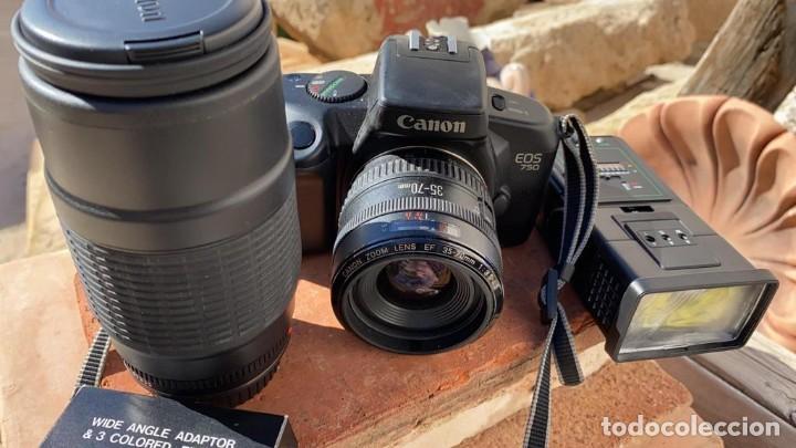 CAMARA CANON EOS 750-850 ANALOGICA CON FLASH TELEOBJETIVO Y FUNDA (Cámaras Fotográficas - Réflex (autofoco))