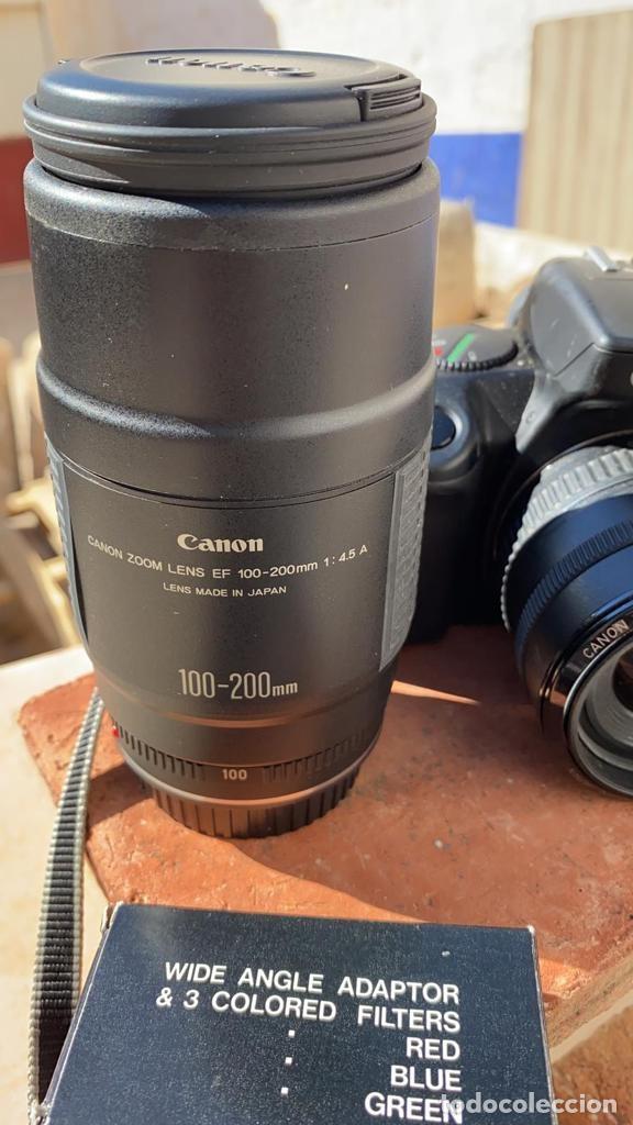 Cámara de fotos: CAMARA CANON EOS 750-850 ANALOGICA CON FLASH TELEOBJETIVO Y FUNDA - Foto 6 - 221499702