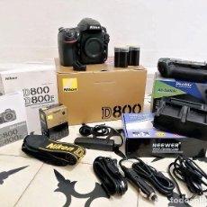 Cámara de fotos: NIKON D800. KIT CON ACCESORIOS. Lote 221108436