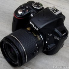 Cámara de fotos: NIKON D3300.+ ZOOM 18 55 G COLLAPSIBLE.COMO NUEVA. Lote 221653573