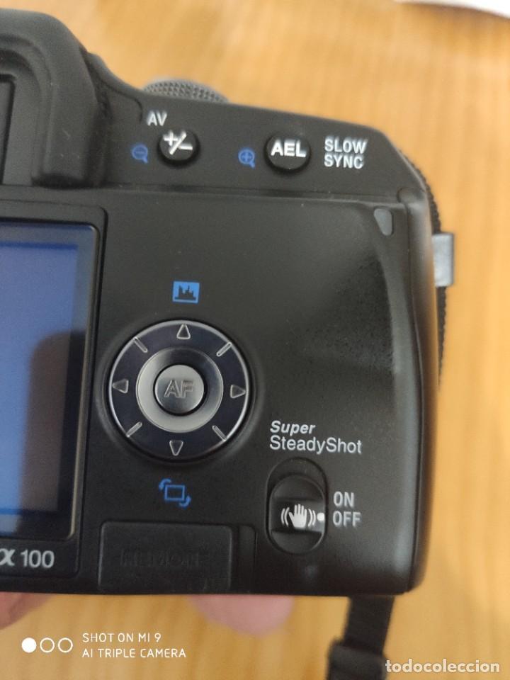 Cámara de fotos: CÁMARA SONY ALFA 100,CON SU ESTUCHE, INSTRUCCIONES, ETC, PERFECTO ESTADO. - Foto 10 - 222261352