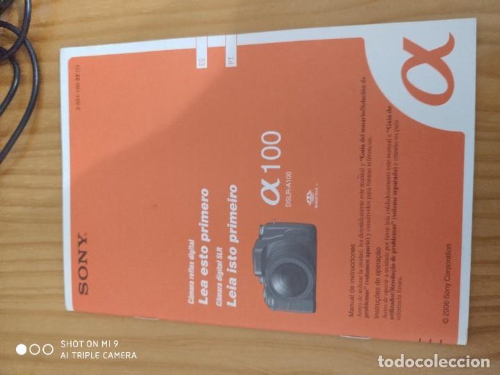 Cámara de fotos: CÁMARA SONY ALFA 100,CON SU ESTUCHE, INSTRUCCIONES, ETC, PERFECTO ESTADO. - Foto 19 - 222261352