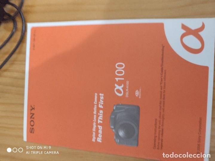 Cámara de fotos: CÁMARA SONY ALFA 100,CON SU ESTUCHE, INSTRUCCIONES, ETC, PERFECTO ESTADO. - Foto 20 - 222261352