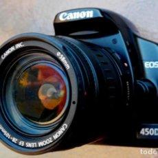 Cámara de fotos: CANON EOS 450D. CON ZOOM CANON APS O Y FULL FRAME 28-105.IMPECABLE.. Lote 231002295
