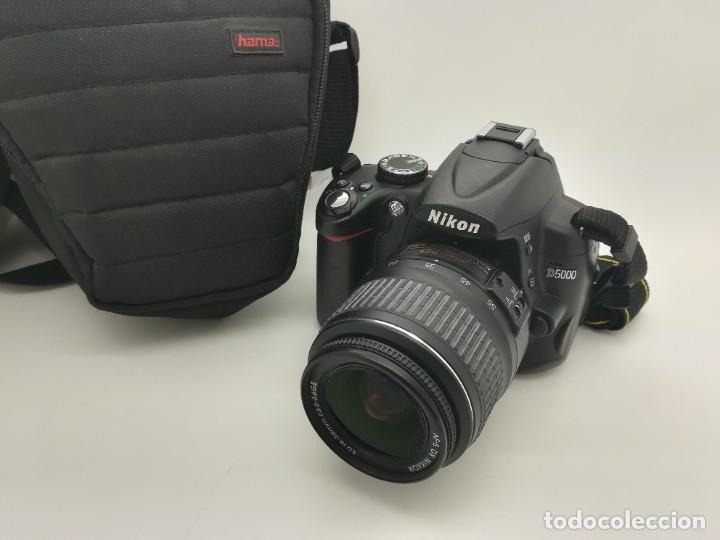 CÁMARA REFLEX DIGITAL NIKON D5000 12,3 MP + OBJETIV 18-55MM + FUNDA DE SEGUNDA MANO (Cámaras Fotográficas - Réflex (autofoco))