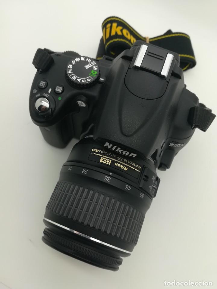 Cámara de fotos: Cámara Reflex digital Nikon D5000 12,3 MP + Objetiv 18-55mm + Funda de segunda mano - Foto 2 - 234856370