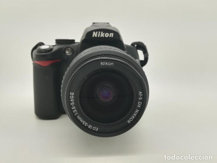 Cámara de fotos: Cámara Reflex digital Nikon D5000 12,3 MP + Objetiv 18-55mm + Funda de segunda mano - Foto 4 - 234856370