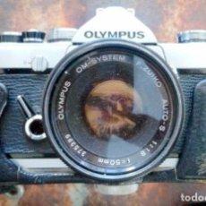Cámara de fotos: CAMARA ANALÒGICA REFLEX OLYMPUS OM1 1.18 50MM CAJA. Lote 236066215