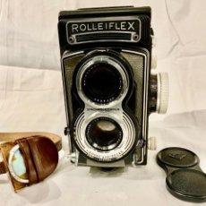 Cámara de fotos: ROLLEIFLEX SYNCHRO COMPUR FRANKE & HEIDECKE- DBGM- CARL ZEISS NR 1670607 -F 75 MM -GERMANY. Lote 236160470