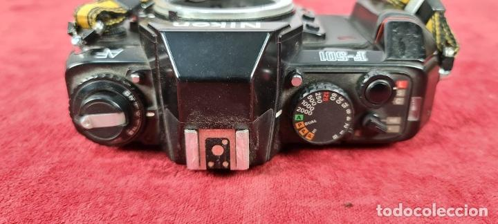 Cámara de fotos: CAMARA FOTOGRÁFICA NIKON F.501. SIN OBJETIVO. 35 MM. SLR. JAPÓN. 1986. - Foto 9 - 240783305