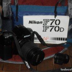 Cámara de fotos: CAMARA DE FOTOS ANALÓGICA NIKON MODELO F70. OBJETIVO NIKON AF NIKKOR 28-80 MM. MANUAL, MOCHILA Y .... Lote 243123790