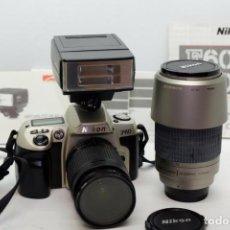 Cámara de fotos: NIKON F60+NIKON 28-80MM+NIKON 70-300MM+FLASH. Lote 243616865