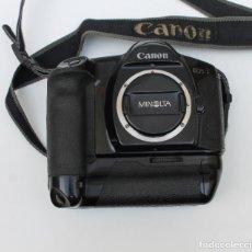 Cámara de fotos: CUERPO DE CAMARA CANON EOS-1 CON EMPUÑADURA POWER DRIVE BOOSTER E -1 DE CANON.. Lote 252056415