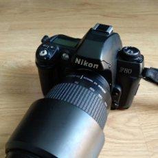 Cámara de fotos: CÁMARA DE FOTOS NIKON F80 CON OBJETIVO NIKKOR 70-300MM. Lote 263007190