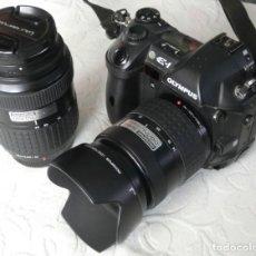 Cámara de fotos: EQUIPO RÉFLEX DIGITAL COMPLETO (CÁMARA OLYMPUS E-1 + OBJETIVO). Lote 264059355