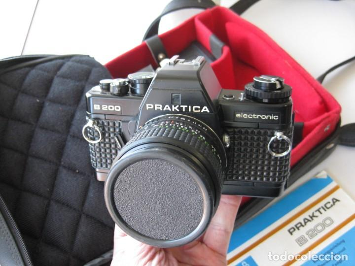Cámara de fotos: CÁMARA REFLEX PRAKTICA B 200, CON 3 OBJETIVOS FLSAH, MANUAL Y BOLSA ORIGINALES. NO PROBADA - Foto 3 - 265499939