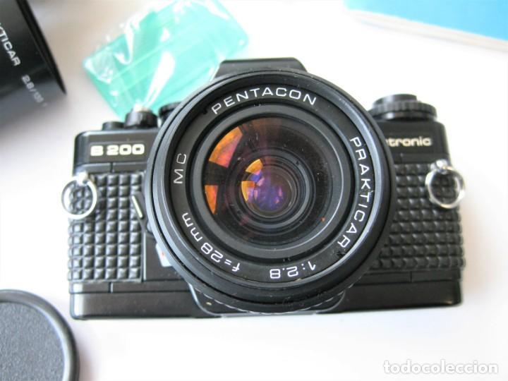 Cámara de fotos: CÁMARA REFLEX PRAKTICA B 200, CON 3 OBJETIVOS FLSAH, MANUAL Y BOLSA ORIGINALES. NO PROBADA - Foto 8 - 265499939