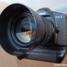 Cámara de fotos: CANON EOS 1 BOOSTER,.PORSCHE DESIGN.CON CANON EF ZOOM 35 105+PARASOL. Lote 274684168