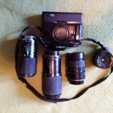 Cámara de fotos: CAMARA MINOLTA X300 +4 OBJETIVOS. Lote 274776383