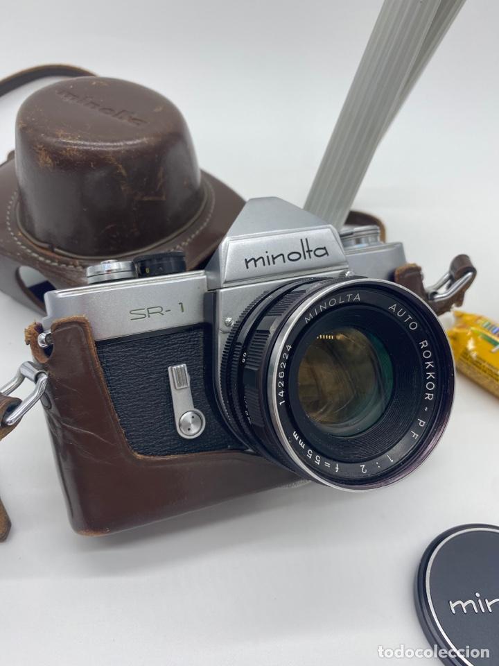 Cámara de fotos: Minolta SR-1 Cámara de carrete 35 mm - trípode + funda + carrete - Foto 2 - 275113593