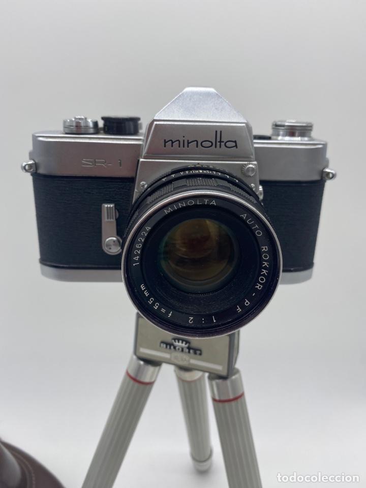 Cámara de fotos: Minolta SR-1 Cámara de carrete 35 mm - trípode + funda + carrete - Foto 3 - 275113593