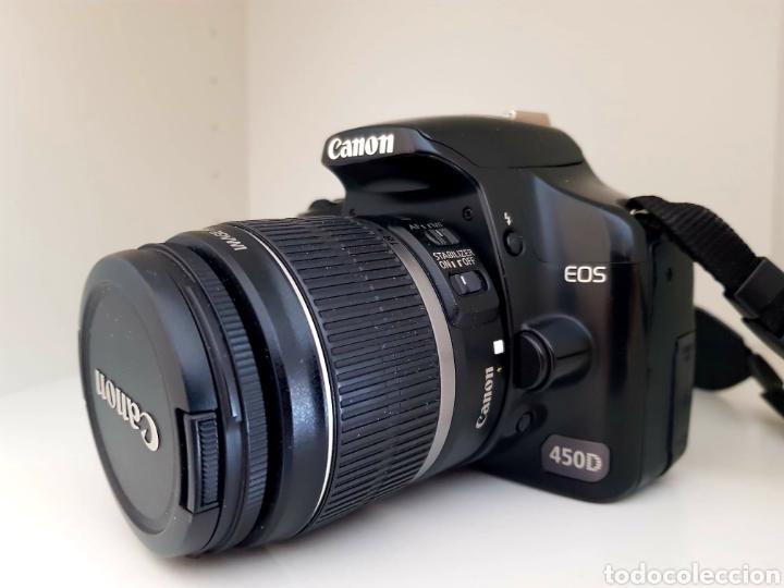 CAMARA CANON EOS 450D CON LENTE EF-S 18-55/3,5.. (Cámaras Fotográficas - Réflex (autofoco))