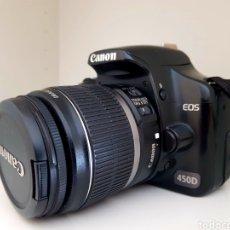 Cámara de fotos: CAMARA CANON EOS 450D CON LENTE EF-S 18-55/3,5... Lote 276502518