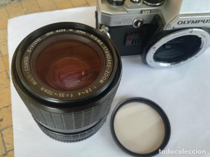 Cámara de fotos: CAMARA FOTOGRAFICA OLYMPUS OM10 CON OBJETIVO, VER FOTOS - FUNCIONANDO CORRECTAMENTE - Foto 5 - 283239128