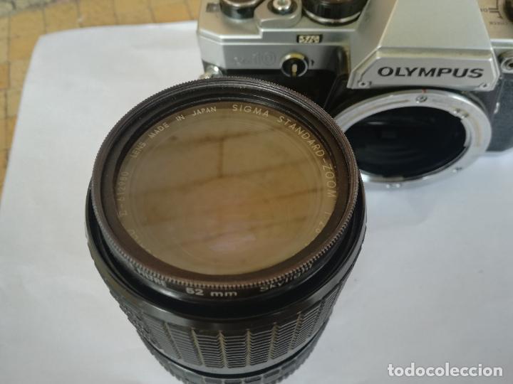 Cámara de fotos: CAMARA FOTOGRAFICA OLYMPUS OM10 CON OBJETIVO, VER FOTOS - FUNCIONANDO CORRECTAMENTE - Foto 8 - 283239128