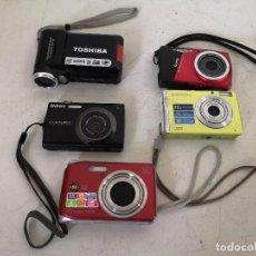 Cámara de fotos: LOTE DE CÁMARAS DIGITALES, 4 DE FOTOS Y UNA DE VÍDEO, VARIAS MARCAS, A REVISAR. Lote 286797003