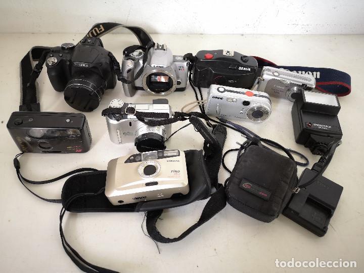 LOTE DE CÁMARAS DE FOTOS, VARIAS MARCAS, TECNOLOGÍAS Y DISEÑOS, A REVISAR (Cámaras Fotográficas - Réflex (autofoco))