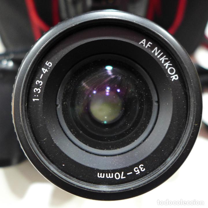 Cámara de fotos: CAMARA NIKON F-601M CON FLASH NIKON OBJETIVO NIKON 35-70 FILTRO ROWI HAZE OBJETIVO PRAKTICAR 70-210 - Foto 24 - 286966478