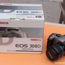 Cámara de fotos: CUERPO CANON EOS 300 DIGITAL + ACCESORIOS. Lote 287197298